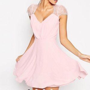 ASOS par pink lace dress